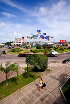 Flag Monument in Belize City