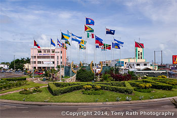 Flag Monumnet in Belize City